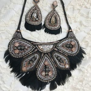 Stella & Dot necklace + earring set